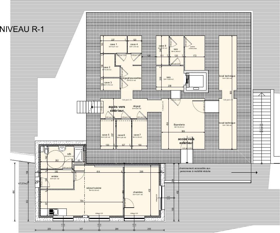 Projet de la maison solidaire des oisillons plans aebe for Plan maison 300m2
